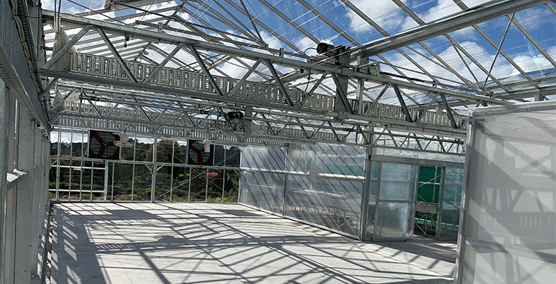 Image of greenhouse structures